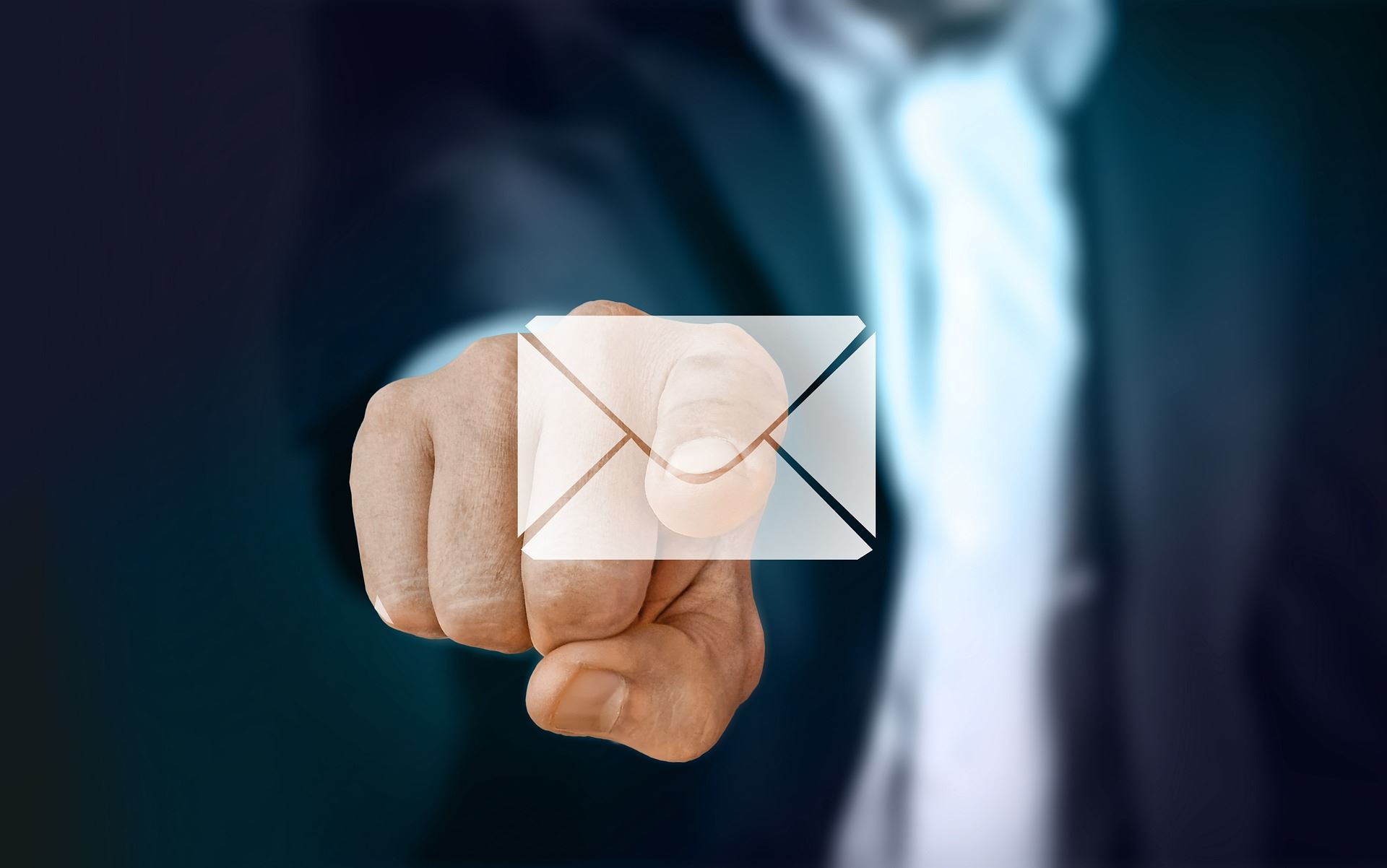 Man Pointing to Email